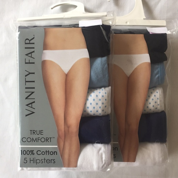 63a1786474f2 Vanity Fair Intimates & Sleepwear | Set Of 10 100 Cotton Blue ...